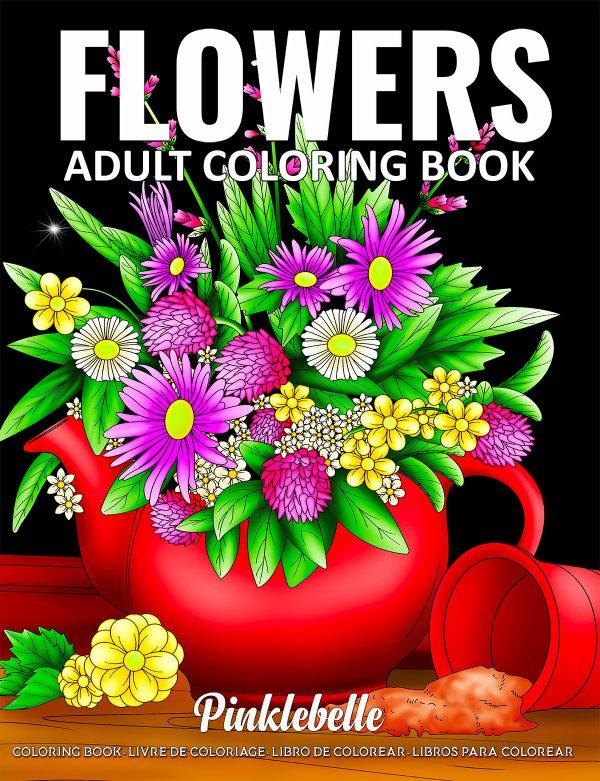 flowers coloring book by pinklebelle