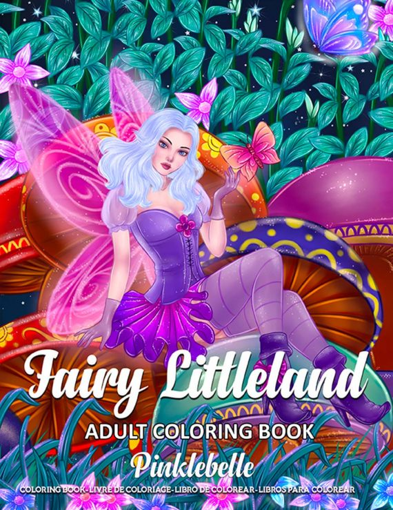 Fairy Littleland Coloring Book by Pinklebelle
