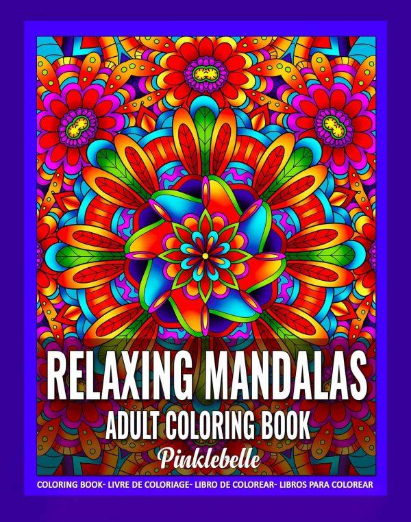 Relaxing Mandala Coloring Book by Pinklebelle