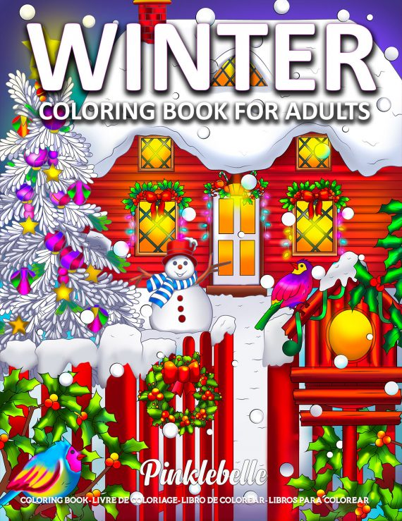 Winter Coloring Book by Pinklebelle