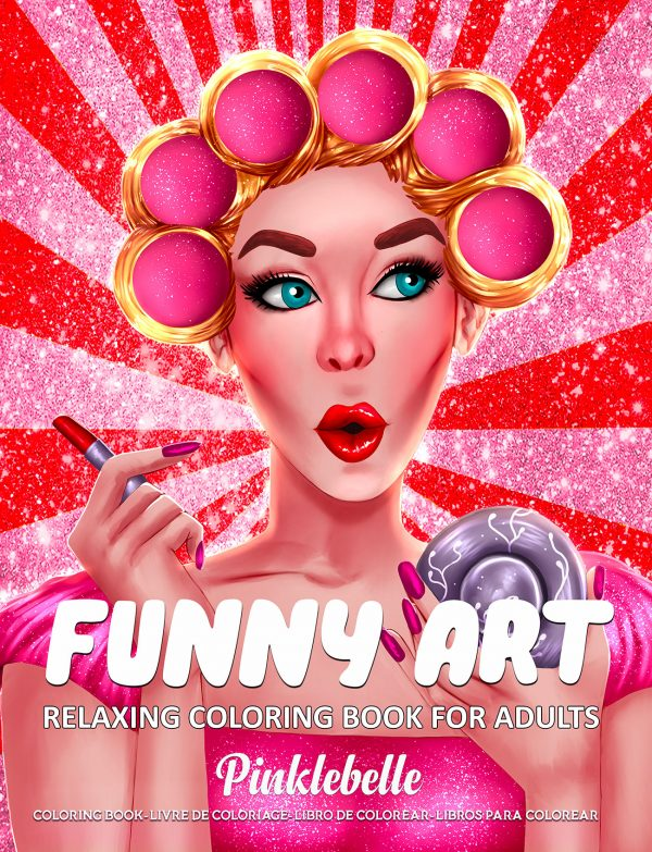 Funny Art Coloring Book by Pinklebelle